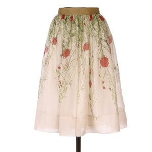 Anthropologie Dresses - Anthropologie Sz 6 Rose Organza Skirt by Viola